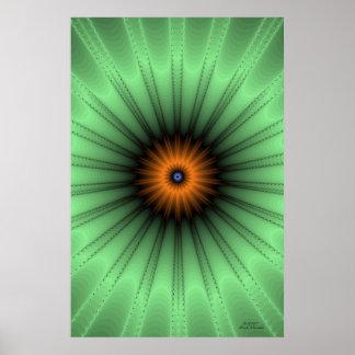 Orange Iris Fractal Poster