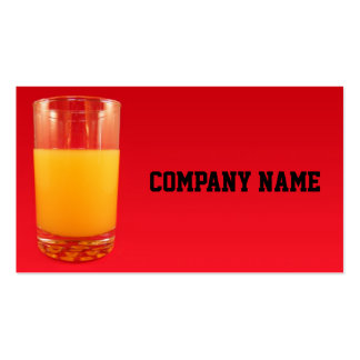 Orange Juice Pack Of Standard Business Cards