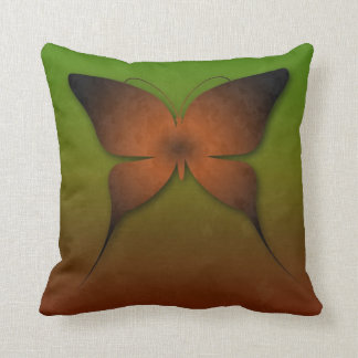 Orange Ombre Butterfly Pillow Throw Cushion