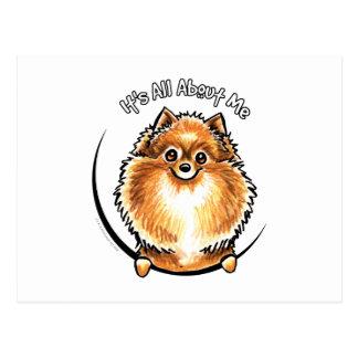 Orange Pomeranian IAAM Postcard