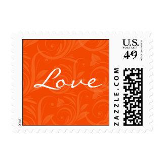 Orange Rose Graphic Love Stamp