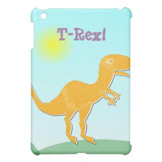 Orange T-Rex Cartoon Dinosaur iPad Case