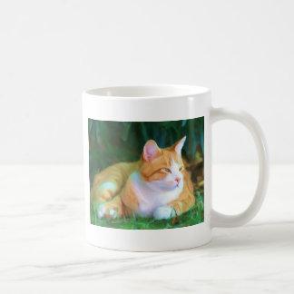 Orange Tabby Cat Basic White Mug