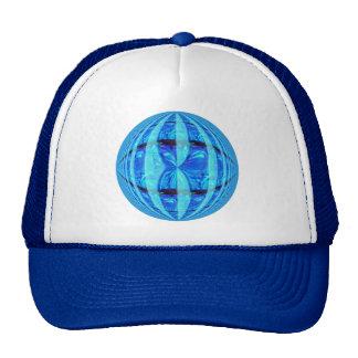 Orb Blue Round trucker hat
