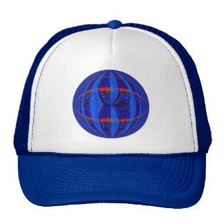 Orb Dark Blue Round trucker hat
