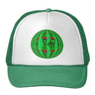 Orb Green Round trucker hat
