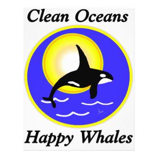 Orca Whale Clean Oceans Happy Whales 21.5 Cm X 28 Cm Flyer