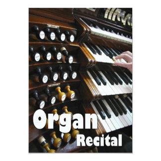 Organ recital invitation - keyboards