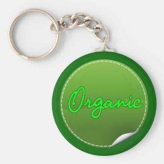 organic basic round button key ring