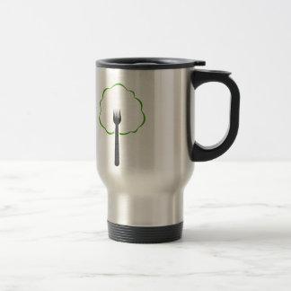 Organic food stainless steel travel mug