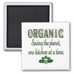 Organic Saving the Planet Kitchen Saying Magnet