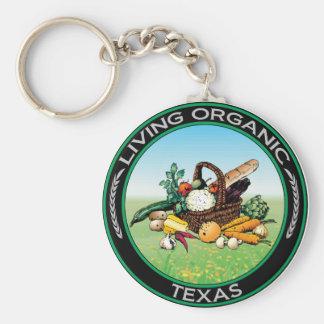 Organic Texas Basic Round Button Key Ring