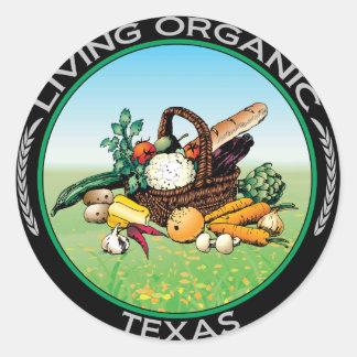 Organic Texas Round Sticker