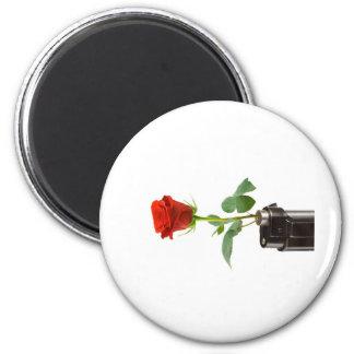 "Origami Rose ""Automatic"" Apparel Store 6 Cm Round Magnet"