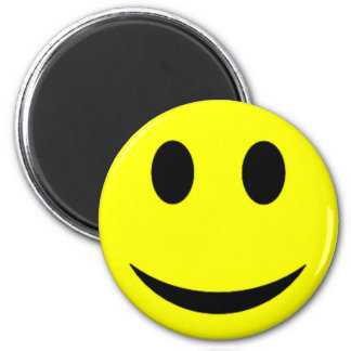 Original Yellow Smiley Face 6 Cm Round Magnet