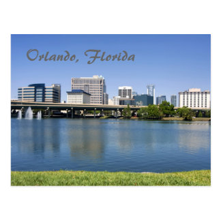 Orlando, Florida from across Lake Lucerne Postcard