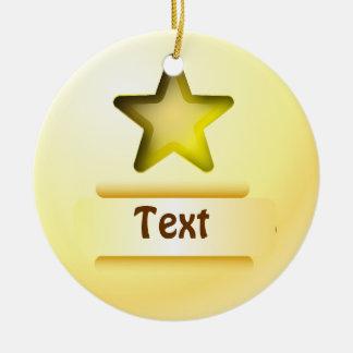 Ornament icon gold star