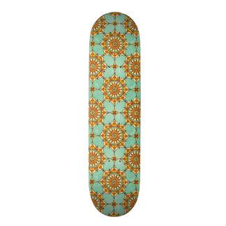 Ornamental pattern skateboard deck