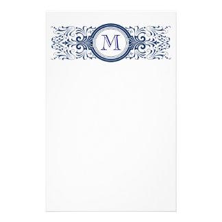 Ornate Customizable Monogram stationary Customised Stationery