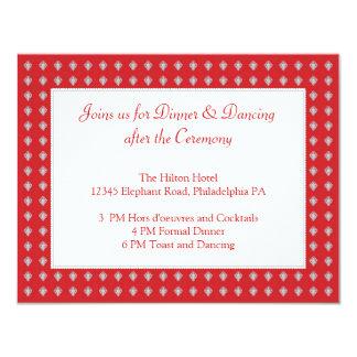 Ornate Elephants Wedding Reception Card Invitation