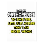 Orthopaedist...Assume I Am Never Wrong Postcard