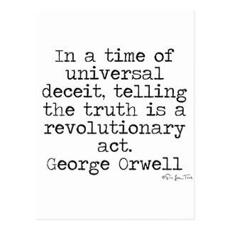 Orwell Truth Postcard