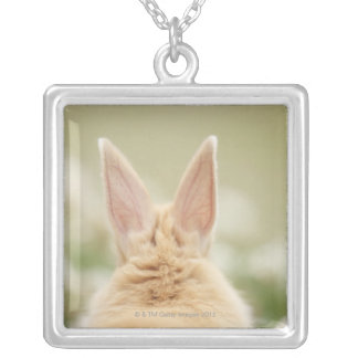 Oryctolagus cuniculus 2 square pendant necklace