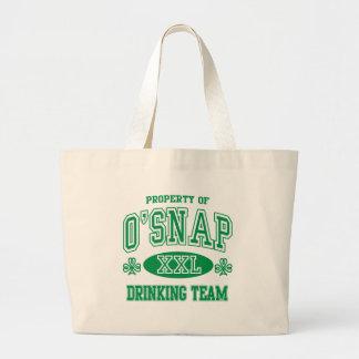 O'Snap Irish Drinking Team Jumbo Tote Bag