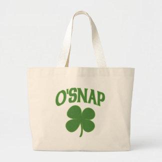 O'Snap irish Shamrock Jumbo Tote Bag