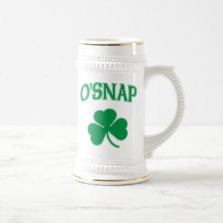 O'Snap Shamrock Beer Steins