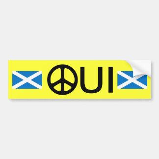 Oui No Trident Scottish Independence Sticker Bumper Sticker