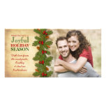 Our First Christmas Together Boughs Holiday Personalised Photo Card