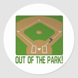 Out Of The Park Round Sticker