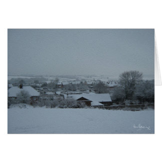 Over the allotments, Harthill with Woodall Greeting Card