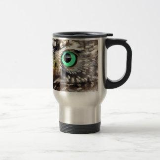 Owl Bird Eyes Tree nature wise Stainless Steel Travel Mug