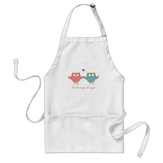 owl love you standard apron
