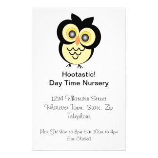 Owl Nursery Flyer