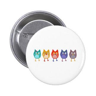 Owl of us 6 cm round badge