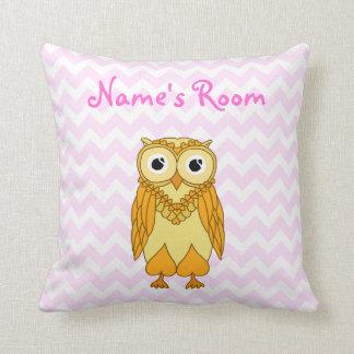 Owl Pillow: Yellow Custom Throw Cushions