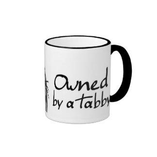 owned tabby ringer mug