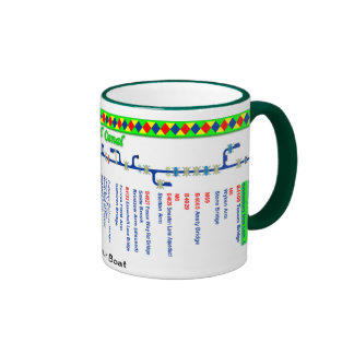 Oxford Canal Route Map (1 of 4) Ringer Mug
