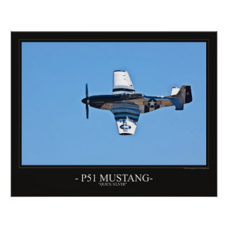 P51 Mustang  Quick Silver Poster
