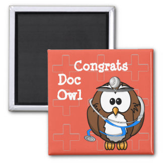 paging doc owl square magnet