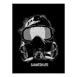 Paint mask poster