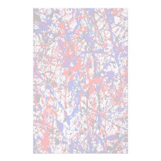 Paint Splatter Abstract Art Custom Stationery