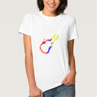 Paint Splatter Ukulele T-shirts