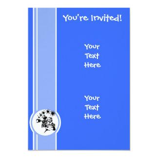 Paintball; Blue 13 Cm X 18 Cm Invitation Card