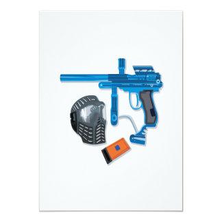 Paintball Gear 13 Cm X 18 Cm Invitation Card