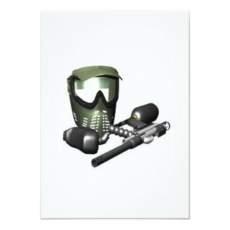Paintball Gear 2 13 Cm X 18 Cm Invitation Card