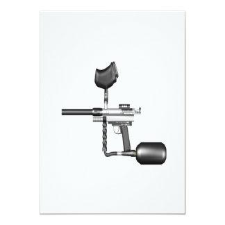 Paintball Gun 13 Cm X 18 Cm Invitation Card